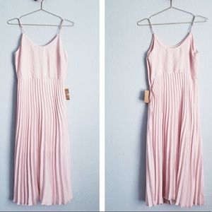 Rachel Roy light pink accordion dress - S